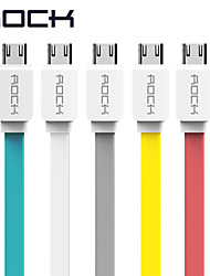 USB 2.0 Flat Cable For Samsung Huawei Sony HTC Lenovo Xiaomi 100 cm TPE