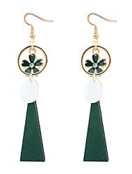 cheap -Women's Drop Earrings - Flower European, Fashion Black / Red / Green For Party / Daily