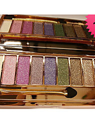 cheap -9 Colors Eyeshadow Palette Women Diamond Bright Shining Colorful Makeup Eye Shadow Flash Glitter Make Up Set With Brush
