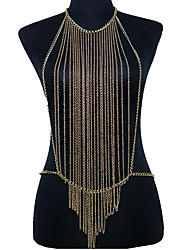 Body Jewelry Body Chain Alloy Fashion Casual Bohemia Tassels Unique Necklace/pendant Bikini Harness For Women