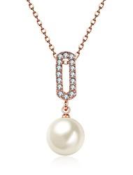 cheap -Women's Round Square Drop Personalized Unique Design Dangling Style Vintage Rhinestone Bohemian Imitation Pearl Fashion Punk Adjustable