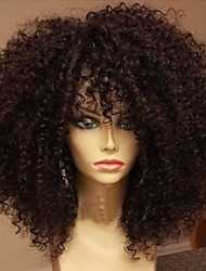 cheap -Human Hair Full Lace Wig Brazilian Hair Kinky Curly With Baby Hair 130% Density 100% Hand Tied African American Wig Natural Hairline