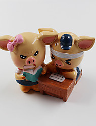 1 PC The Pig Resin Decoration  Crafts Resin Home Furnishing Lover Student Friends Gifts Gifts Toys Resin Random Delivery