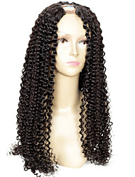 150% Density Remy Virgin Kinky Curly U Part Wig Brazilian Human Hair U Part Wig Kinky Curly Wigs 1*4Inch Left Part For Black Women