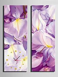 preiswerte -Modern/Zeitgenössisch Anderen Wanduhr,Rechteckig Leinwand 24 x 70cm(9inchx28inch)x2pcs/ 30 x 90cm(12inchx35inch)x2pcs Drinnen Uhr