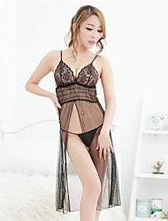 SKLV Women's Lace/Organza Lingerie/Ultra Sexy/Suits Backless Long Nightwear/Lingerie