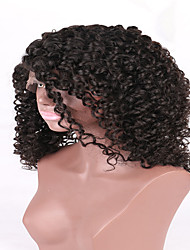 7A High Quality Brazilian Human Virgin Glueless Full Lace Wig Natural Color For Black Woman China Supplier