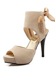 economico -Per donna Scarpe Scamosciato Primavera Estate Comoda Alla schiava Club Shoes Sandali Footing A stiletto Punta aperta Con diamantini Perle