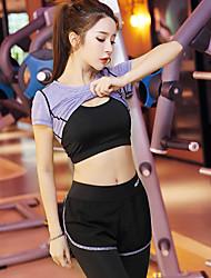 economico -Per donna Tuta da ginnastica Manica corta Asciugatura rapida Traspirante Set di vestiti per Yoga Esercizi di fitness Corsa Modal