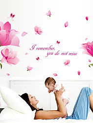 cheap -Fantasy Pink Flowers Romance Wall Stickers Creative Family Bedroom Living Room Wall Decals
