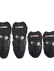 coussinets de protection en fibre de carbone moto motocross genou course genou atv coudières tapis gardes armure équipement de protection