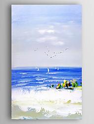 baratos -Pintados à mão Paisagem Vertical, Modern Tela de pintura Pintura a Óleo Decoração para casa 1 Painel