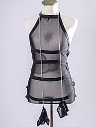 お買い得  -セクシー スーツ ウルトラセクシー マッチング・ブラレット ナイトウエア 女性用 - メッシュ, ソリッド