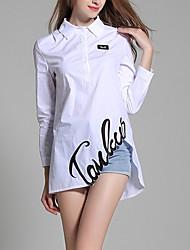 cheap -Women's Shirt Print Shirt Collar
