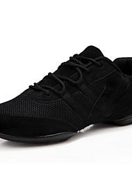 Women's Ballet Satin Full Sole Indoor Flat Heel Black Customizable