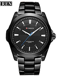 cheap -Men's Quartz Wrist Watch Smartwatch Sport Watch Chinese Water Resistant / Water Proof Large Dial Metal Band Charm Creative Unique