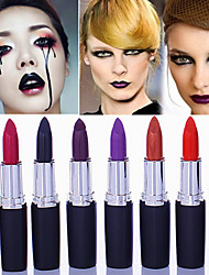 cheap -1Pcs Matte Band Makeup Vampire Dark Red Lip Tattoo Cosmetic Purple Waterproof Matte Lipstick Lot Labiales Matte