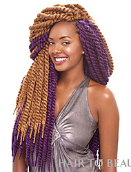 cheap -synthetic kanekalon hair for braid 2x havana mambo twists synthetic havana mambo twist crochet Bouncy Curl hair company 6-8pcs/head