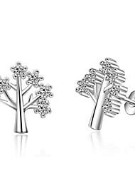 Kubický zirkon Peckové náušnice Šperky Svatební Párty Denní Ležérní Slitina Postříbřené 1 pár Stříbrná