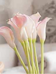 cheap -7 Branches 3 Clor Large Size PU Calla Lily Decorate Artificial Flowers