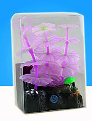 Недорогие -Оформление аквариума Водное растение Фосфоресцирующий Искусственная Резина