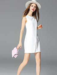baratos -Mulheres Bainha Vestido Sólido Mini