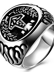 preiswerte -Ringe Party Alltag Normal Sport Schmuck Titanstahl Herren Statementringe Ring 1 Stück,6 7 8 9 10 Wie in der Abbildung angezeigt