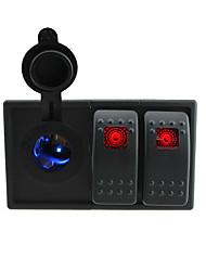 DC 12V/24V LED Digital led Power Socket with rocker switch jumper wires and housing holder