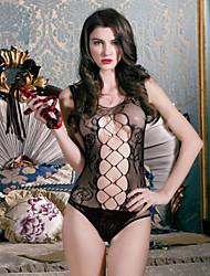 SKLV Women Nylon Lace Cut Out Sheer Backless Lingerie/Ultra Sexy/Teddy Nightwear