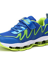 Boy's Athletic Shoes Spring Summer Fall Comfort Synthetic Tulle Athletic Low Heel Hook & Loop Navy Royal Blue Walking