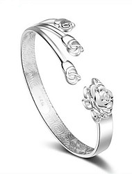 cheap -Women's Cuff Bracelet Bohemian Open Movie Jewelry Hip-Hop Fashion Adjustable Sterling Silver Flower Jewelry Christmas Gifts Wedding Party