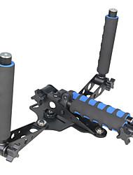 yelangu 1/4 parafuso tubo de extensão equipamento de suporte leve de mão no ombro para câmeras de vídeo DSLR