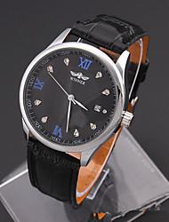 cheap -Men's Sport Watch Fashion Watch Wrist watch Mechanical Watch Simulated Diamond Watch Automatic self-winding Genuine Leather Band Vintage