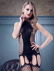 SKLV Women Nylon Cut Out  Large Grid Chemises & Gowns/Lace Lingerie/Ultra Sexy Teddy Nightwear