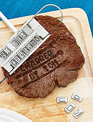 cheap -New BBQ Branding Iron & Changeable Letters Barbecue Names Tool Steak Outdoor Fun