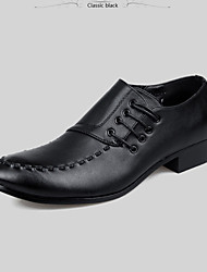 cheap -Men's Shoes Leather Leatherette Spring Fall Formal Shoes Oxfords For Casual Party & Evening Black