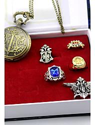 preiswerte -Uhr/Armbanduhr Abzeichen Mehre Accessoires Inspiriert von Black Butler Sebastian Michaelis Anime Cosplay Accessoires Uhr/Armbanduhr Ring