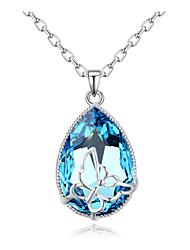 Femme Pendentif de collier Cristal Cristal Plaqué or Cristal Autrichien Amitié Le style mignon Bijoux Pour Soirée Regalos de Navidad