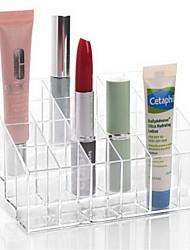 Makeup Storage Acrylic Transparent 24 Lattice 14.5*9.5*7.5 Acrylic Trapezoid Lipsticks Cosmetic Perfume Organizer Display Holder Storage Shelf