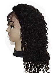 hot sell 2017 good quality full lace wig 16inch human hair virgin hair kinky curly cheap price for women