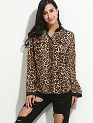 Women's Leopard Print Loose Blouse