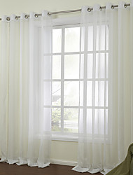 zwei Panele Window Treatment Modern , Solide Schlafzimmer Leinen-Polyestergewebe Stoff Gardinen Shades Haus Dekoration For Fenster