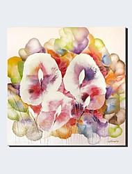 Pintados à mão Paisagem Floral/Botânico Horizontal Panorâmica,Moderno Clássico 1 Painel Tela Pintura a Óleo For Decoração para casa