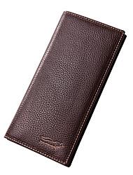 Men Bags All Seasons Cowhide Wallet for Wedding Shopping Casual Formal Outdoor Office & Career Professioanl Use Black Dark Brown