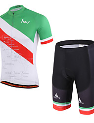 cheap -Miloto Cycling Jersey with Shorts Unisex Short Sleeves Bike Padded Shorts/Chamois Clothing Suits Quick Dry Breathable Compression