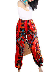 Women's Boho Solid Blue / Red / White / Black / Green Jeans PantsSimple All Seasons