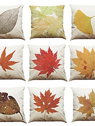 """Недорогие -набор из 9 декоративных печатных лент современной ботанической подушки (18 """"* 18"""")"""