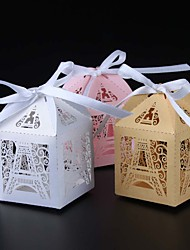 cheap -50pcs Eiffel Tower Candy Box Wedding Box Wedding Favors And Gifts