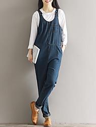 segno di primavera 2017 nuove salopette di jeans femminili letterari allentate grandi cantieri studenti biforcazione harem pants