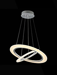 cheap -LED Acrylic Pendant Lights Ceiling Hanging Chandeliers Deco Lamps with 26W 2 ring 3050 CE FCC